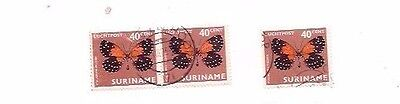 3 SURINAME stamps.
