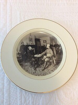 Appomattox Virginia VA Civil War US Grant Robert E Lee Collectors Plate Vintage