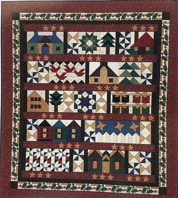 """Thimbleberries HOMETOWN CHRISTMAS QUILT Complete Quilt Kit 96"""" X 108"""" NEW!!"""