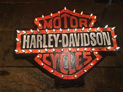 Harley Davison Sign Man Cave Or Garage