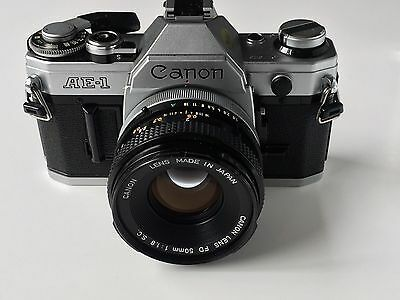 Canon AE-1 Film Camera & Canon FD 50mm F1.8 M/F S.C. lens - Excellent Condition