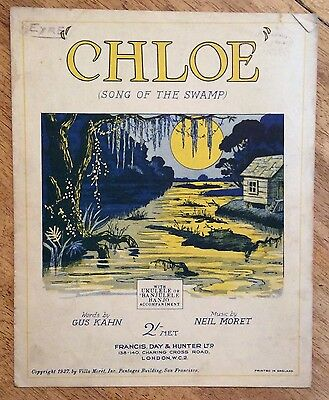 Vintage Sheet Music - Chloe (Song of the Swamp)