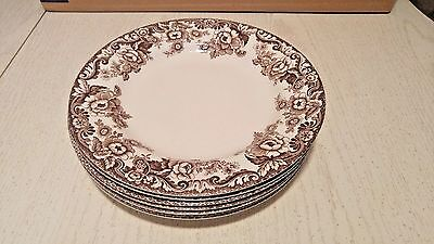 "Spode Delamere Dinner Plates 10.5"" Set Of 7 EUC"