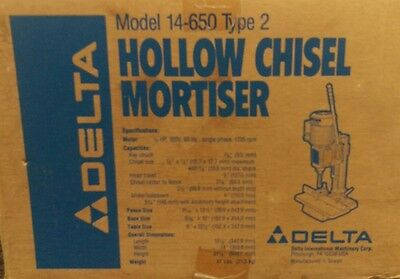 Delta 14-650 Hollow Chisel Mortiser, new in opened box