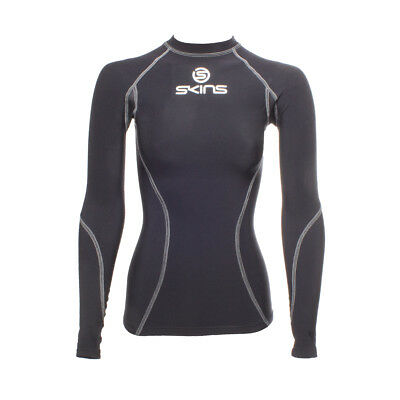 Skins Snow Women's Thermal Compression Top Long-sleeve Black/Silver XS
