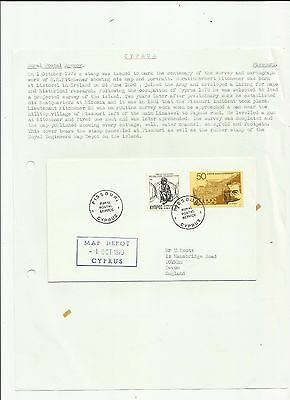 Cyprus 1979 Pissouri rural post cover  written up