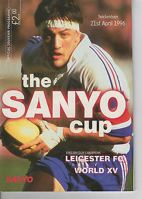 Rugby Union Programme 21st April 1996 Leicester FC v World XV