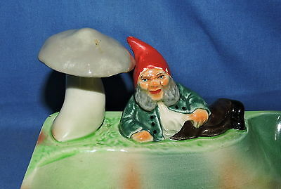 A Wembley Ware Elf with Red Hat with Mushroom Dish