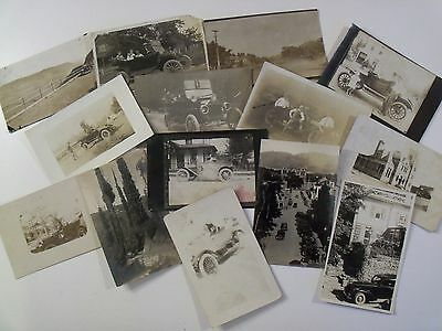 Early Rppc Automobile Auto Jalopy Postcard Lot! Ww1 Era & Before Wwi Real Photo