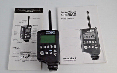 New Pocket Wizard Multi Max 32 Channel Transceiver Radio Slave with Book & Guide