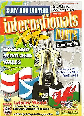 Bdo British Internationals 2007 Signed By All Players Mint Condition