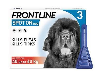 Frontline Spot on For Small Medium Large & Extra Large Dogs 3 Pipettes Flea Lice
