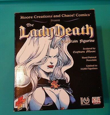 "Lady Death Clayburn Moore 6 1/2"" Porcelain Statue In Box"