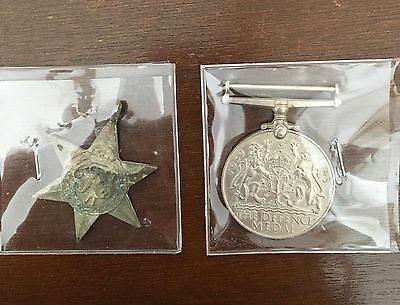 WWII medals - The 1939-1945 Star - 1939-1945 The Defence Medal