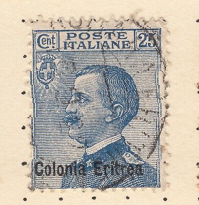ERITREA SG 33 25c Blue King Fine Used