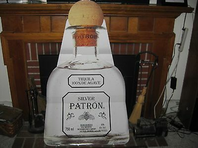 "Patron Tequila SILVER sign large wall art bar decor 55"" TALL"