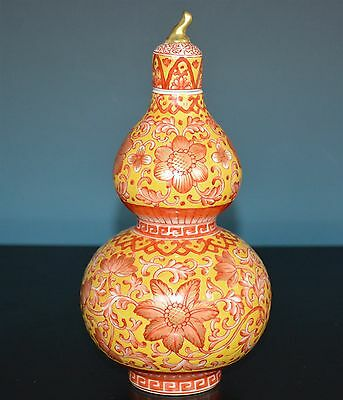 Exquisite Chinese Famille Rose Porcelain Vase Marked Qianlong Rare M9993
