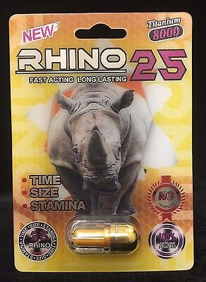 Rhino 25 Titanium 8000 ( 6 Pill Pack ) Sexual Enhancer For Men (Free Shipping)