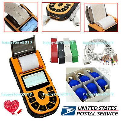 US FDA Digital one-Channel 12-leads ECG/EKG Machine Electrocardiograph+Software
