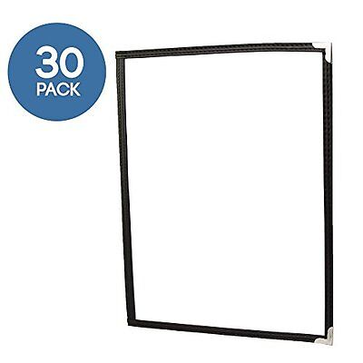 30 Pack of Menu Covers - Single Page, 2 View 8.5 x 11 Inch Restaurant Menu Cover
