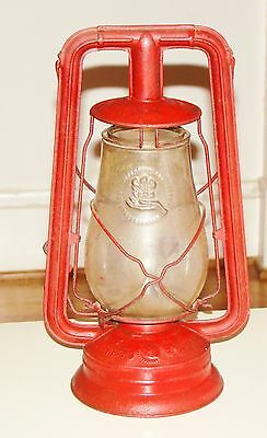 Vintage Nier Feuerhand No. 257 Red Lantern - Made in Germany - Red