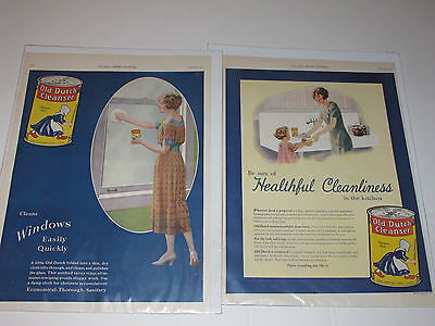 Old Dutch Cleanser Magazine Ads From 1922, 1926 Ladies Home Journal-set of 2