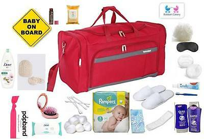 Luxury Pre Packed Hospital Maternity Labour Bag Mum & Baby NEXT DAY DEL AVAILABL