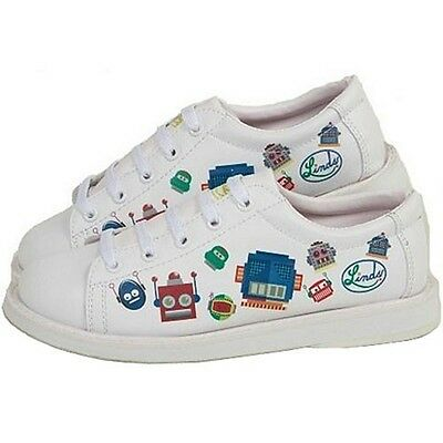 Youth Boys Linds Bot Bowling Ball Shoes Color White Size  4