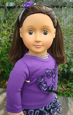 """Battat Our Generation Doll , Brown Hair With Brown Eyes 18"""" Tall"""