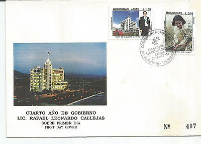 Honduras. Stamp Lot. Sc. C937-C938(2). FDC. Pres. Callejas,4th year in Office.
