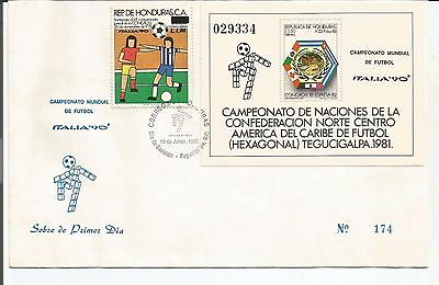 Honduras. Stamp Lot. Sc C796-C797(2). FDC. World Cup Soccer. ITALY.