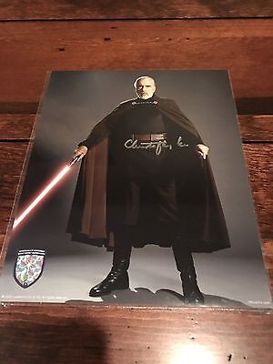 Official Pix Star Wars Christopher Lee As Count Dooku Rare Signed Photo!!