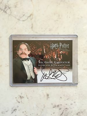 Harry Potter Prisoner Of Azkaban Warwick Davis Choir Willow Autograph Auto Card