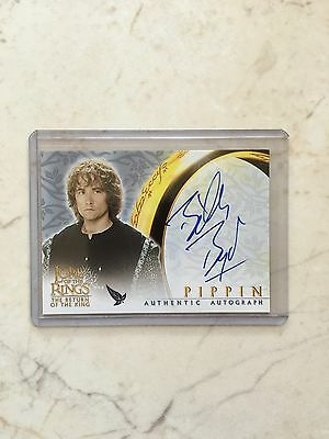 Lord Of The Rings LOTR ROTK Pippin Billy Boyd Autograph Auto Card
