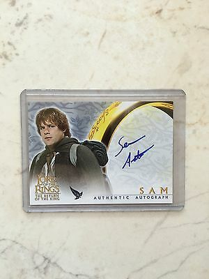 Lord Of The Rings LOTR ROTK Sam Samwise Sean Astin Autograph Auto Card