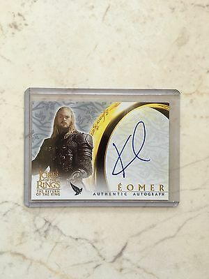 Lord Of The Rings LOTR ROTK Eomer Karl Urban Judge Dredd Autograph Auto Card