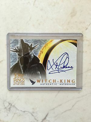 Lord Of The Rings LOTR ROTK Witch King Lawrence Makoare Autograph Auto Card