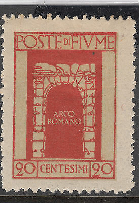 FIUME 1923 20c Arch Mint Hinged