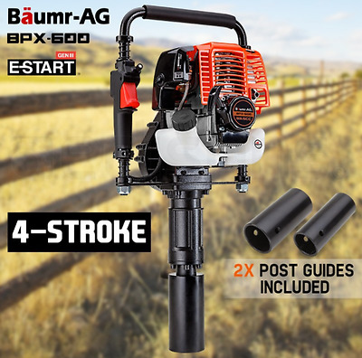 33.5cc Petrol Fence Post Driver 4-Stroke Pile Star Picket Rammer 2 Tonne Recoil