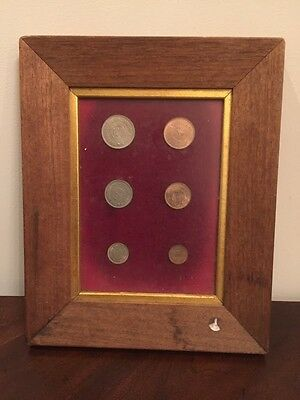 Jordan Rare Prooflike Framed Six Coins Set: 1, 5, 10, 20, 50, 100 Fils