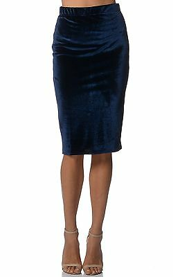 New with tags blue velvet pencil skirt size 6 8 10 12 14