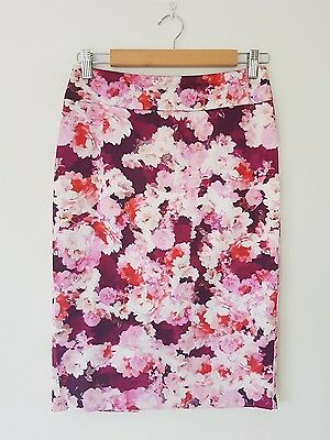 ♡ REVIEW Pink Floral Pencil Skirt - Size 8