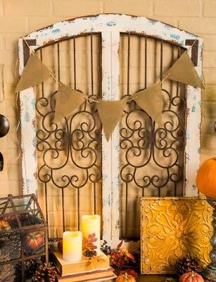 White Metal and Wood Wall Decor  Shabby Chic Decor Rustic Country Wall Decor New