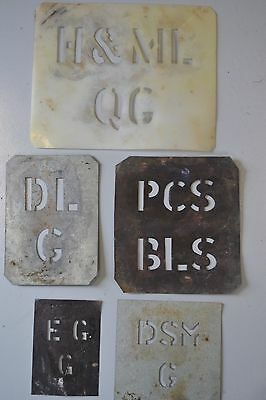 5 Vintage Antique Wool Bale Stencils Templates. Farm Sheep Shearing Related