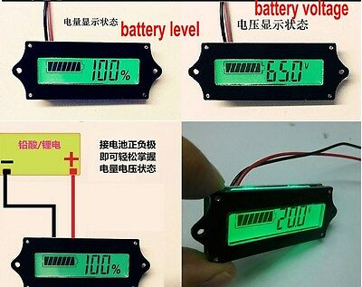8-65v LCD battery level indicator for lead acid and lithium battery coulombmeter