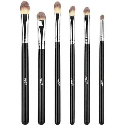 MSQ Professional 6PCs Makeup Brushes Set Eye Shadow Cosmetic Tool Synthetic Wood