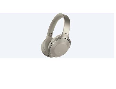 Sony MDR-1000X Noise Cancelling Bluetooth Headphones (Cream)