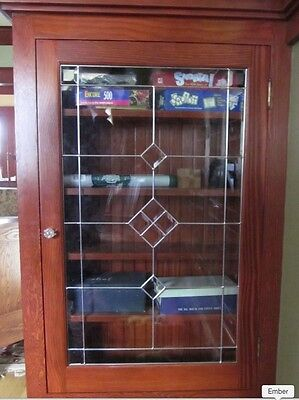Affordable Custom Glass Cabinet door inserts sgdk 8049