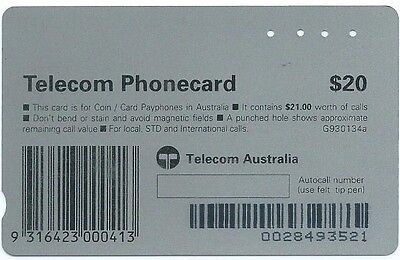 Very Rare $20 Reef:  Batch 284, No 'copyright': Telstra Phonecard