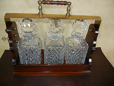 lead crystal decanter set Tantalus 3 decanters